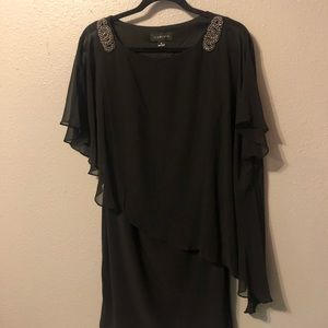 Scarlett Black overlay Cape Dress